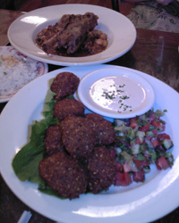 Falafel w Tahini and Lamb Tagine