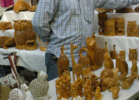 Wood carved animals